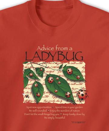 T-SHIRT ADVICE FROM A LADYBUG