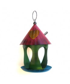 GRN FOLK BIRD FEEDER