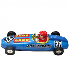 COLLECTIBLE TIN TOY LARGE RACER