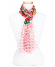 CORAL PAISLEY SCARF
