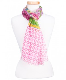 PINK PAISLEY SCARF