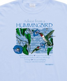 T-SHIRT ADVICE FROM A HUMMINGBIRD
